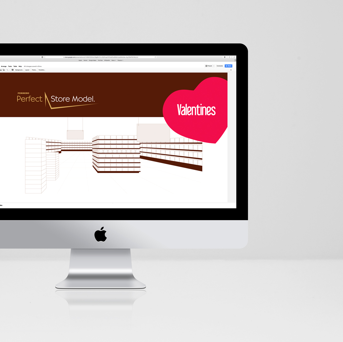 PowerPoint Presentation + Theme and Line drawings Design for Ferrero Canada | Designed by freelanceportfolio.com