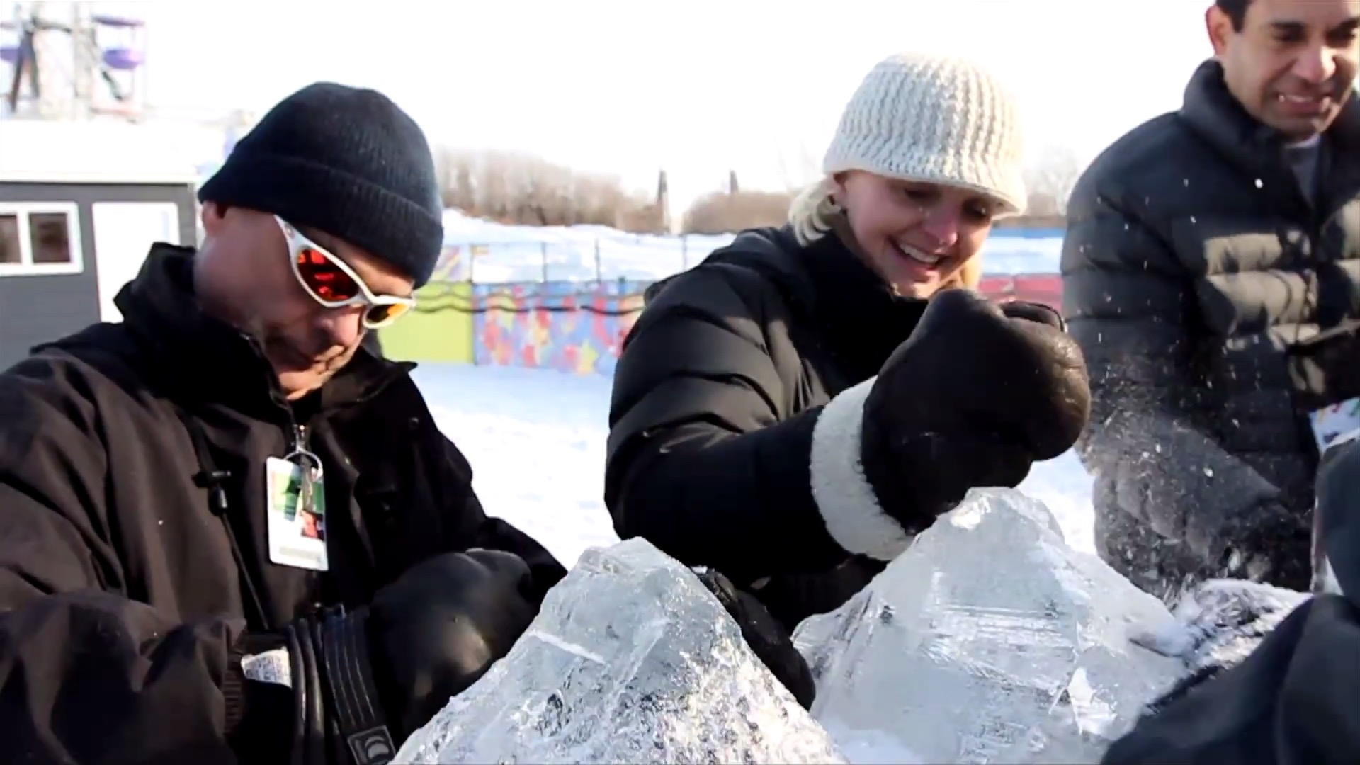 Ice sculture team building by The Freelance Portfolio building corporate culture