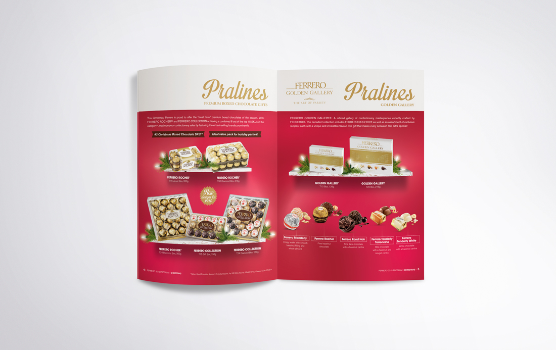 Ferrero sales brochure | designed by the freelanceportfolio.com