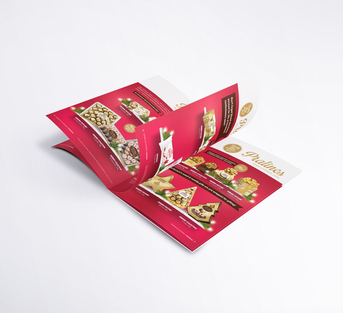 Ferrero sales brochure | designed by the freelanceportfolio.com