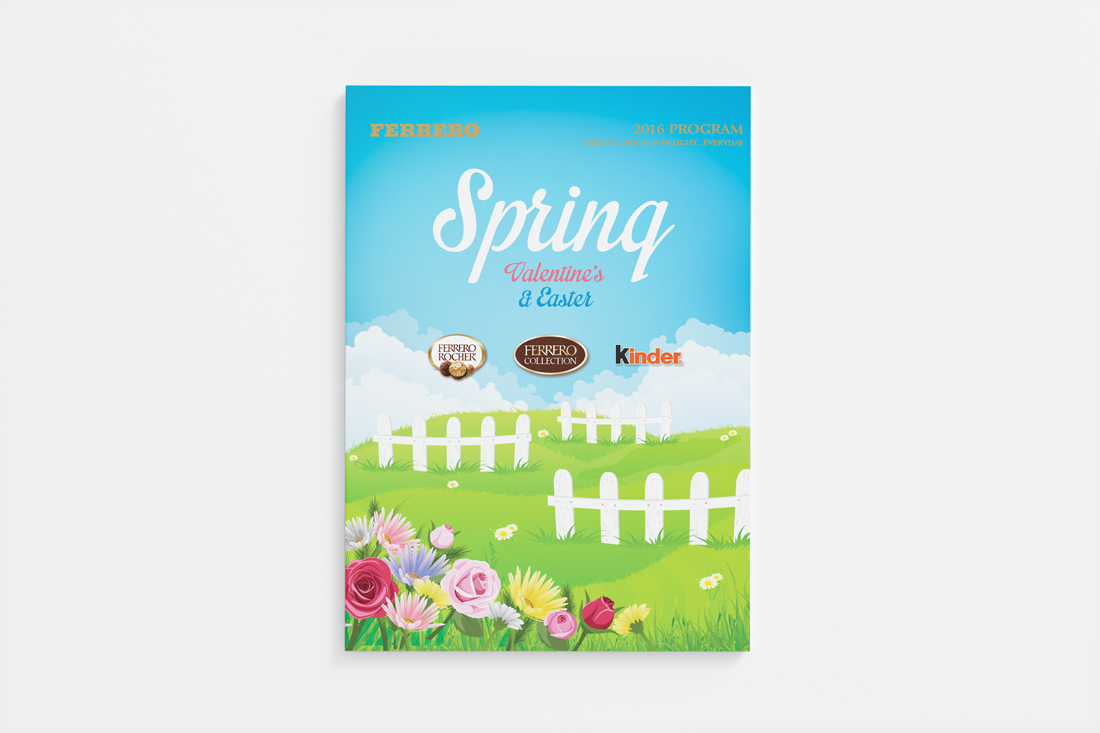 Ferrero spring sales brochure cover design   designed by the freelanceportfolio.com