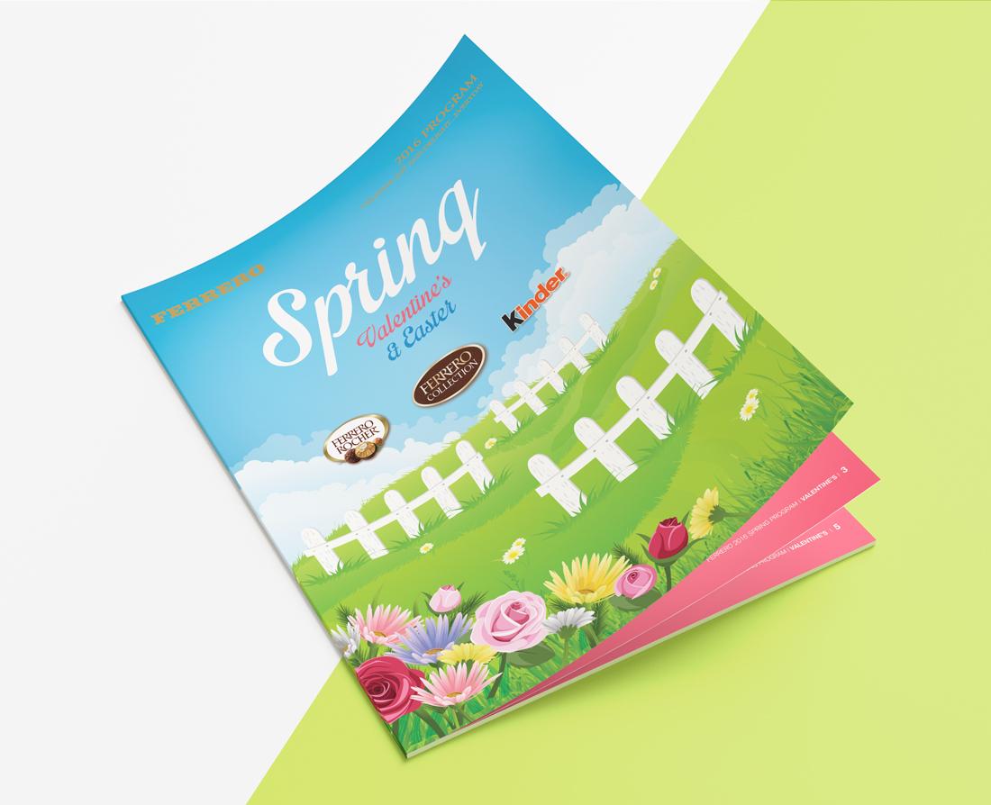 Ferrero spring sales brochure | designed by the freelanceportfolio.com