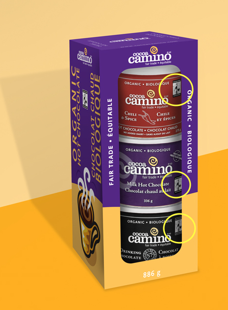ClubPack_Cocoa Camino Fair Trade package design