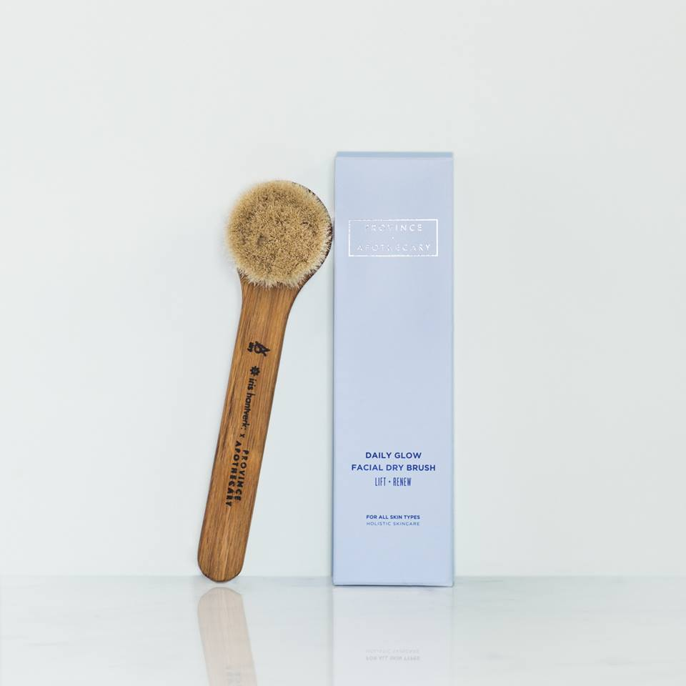 Province Apothecary Daily Glow Facial Dry Brush 2018 package design